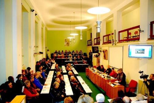 "Symposium on ""The Role of Women and International Peacebuilding,"" Lay Centre at Foyer Unitas, Rome, December 1, 2011."